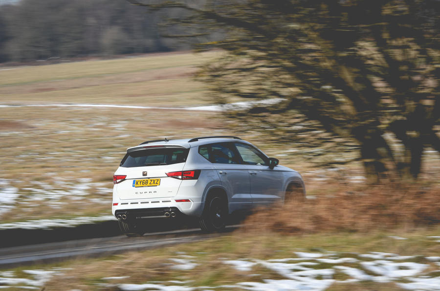 Cupra Ateca 2019 long-term review - on the road rear