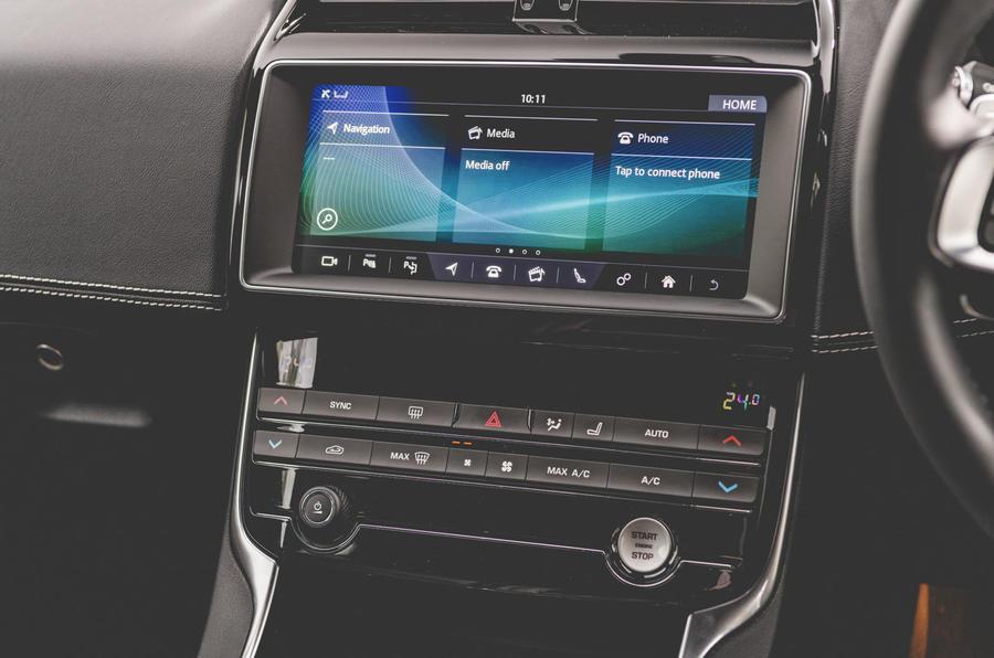 Jaguar XE 2019 long-term review - infotainment