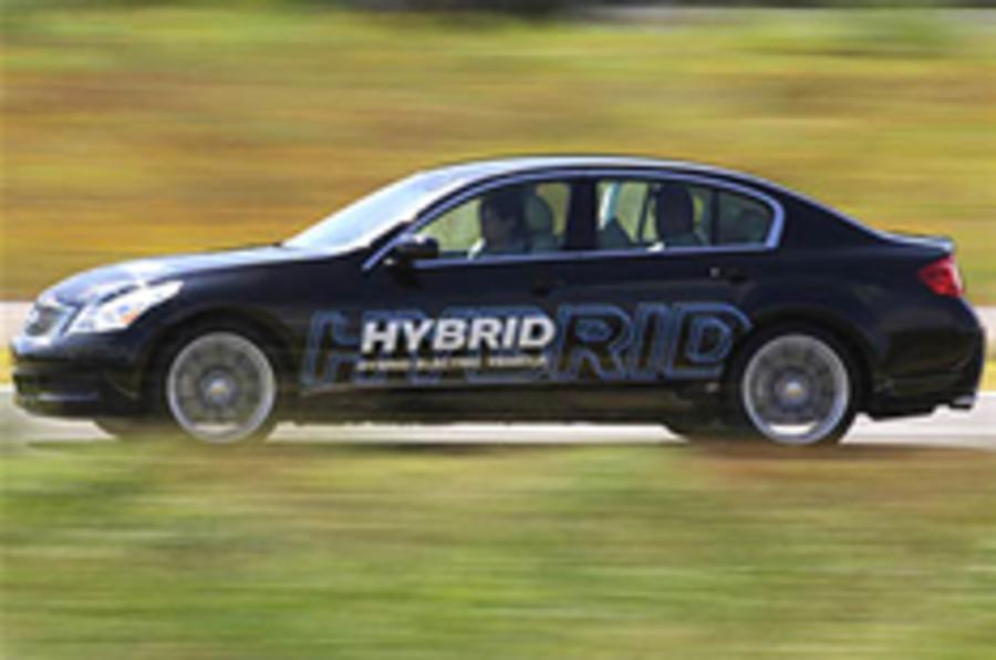 Infiniti hybrid's battery challenge