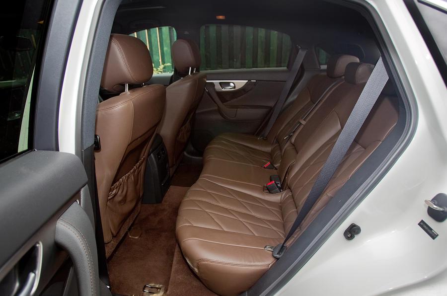 Infiniti FX rear seats