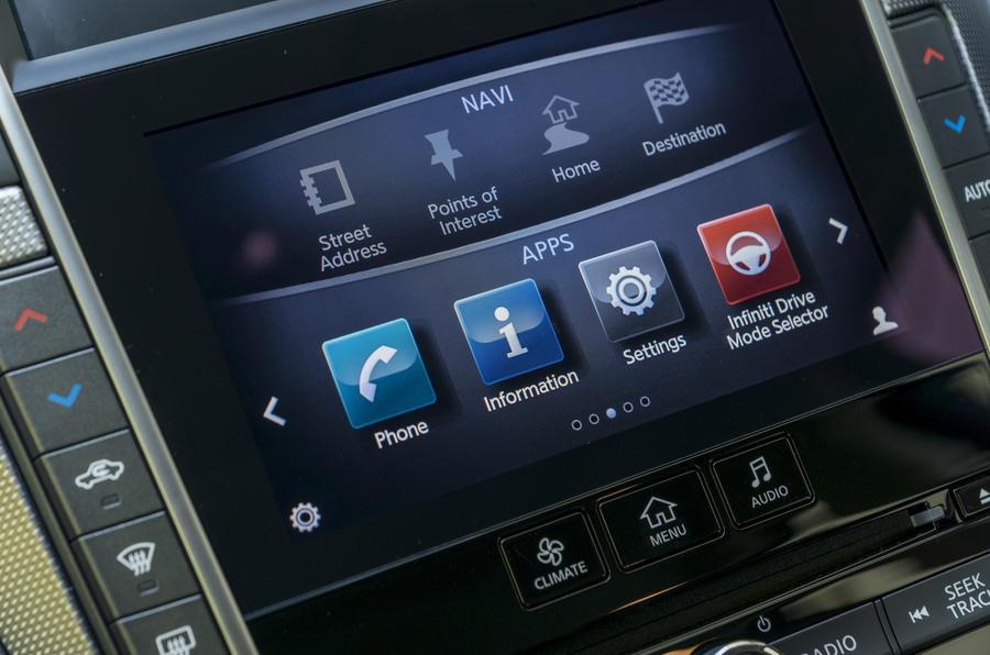Infiniti Q50 infotainment system