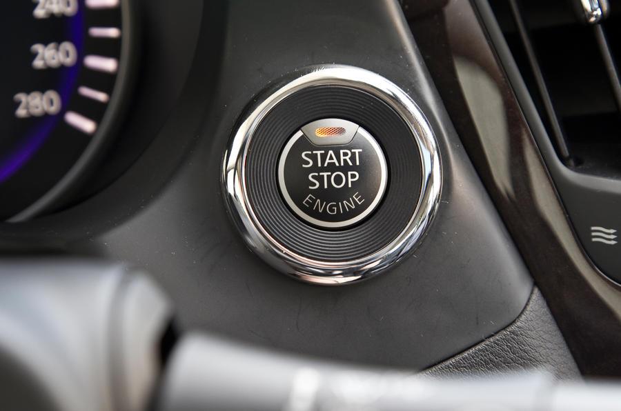 Infiniti Q50 ignition button