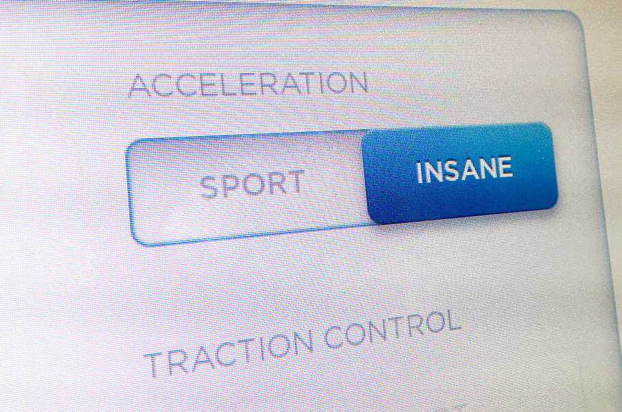 Tesla insane acceleration mode
