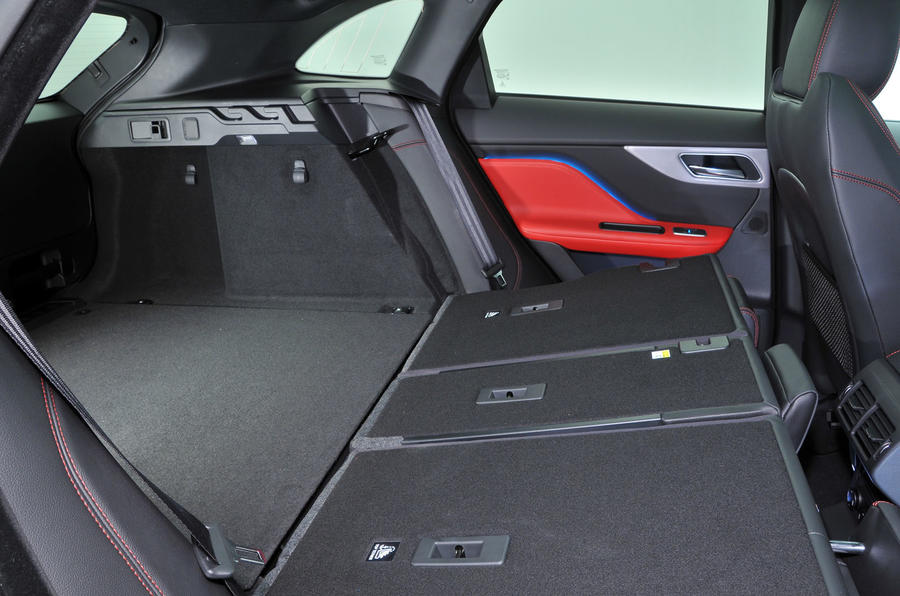 Jaguar F-Pace seating flexibility