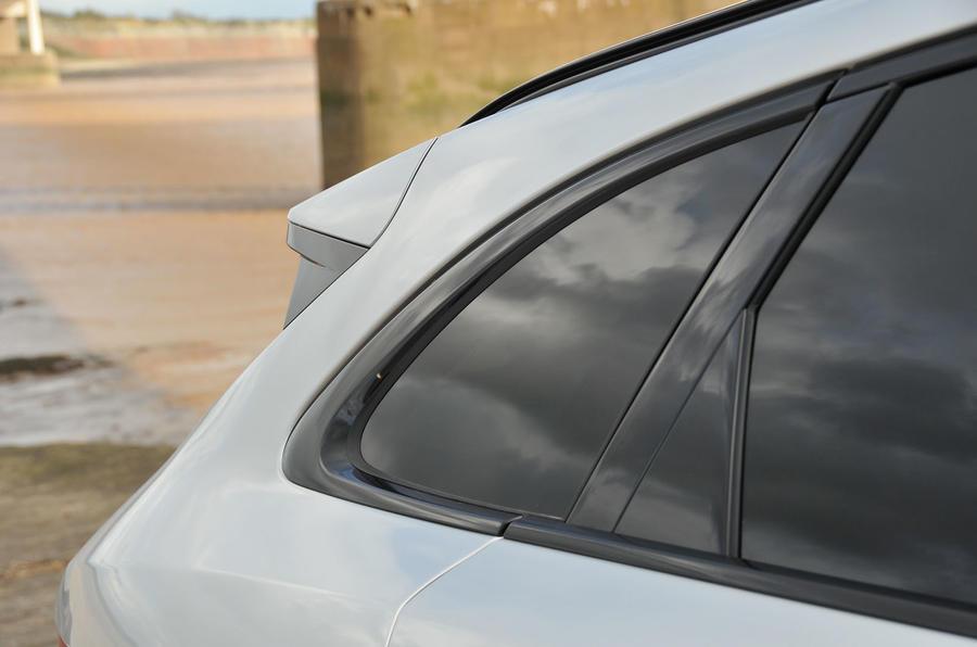 Jaguar F-Pace  2016 road test review roof spoiler