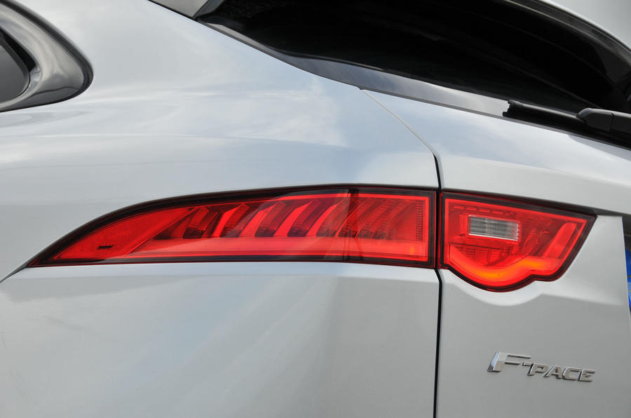 Jaguar F-Pace  2016 road test review rear lights