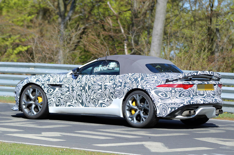 Jaguar F-type R prototype to get 542bhp V8
