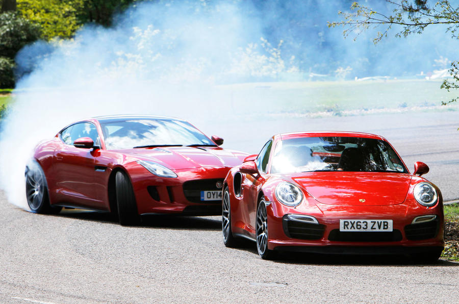 Comparison: New Jaguar F Type R Coupe Vs. Porsche 911 Turbo S