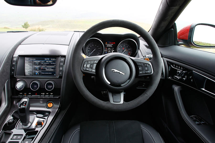 Comparison: new Jaguar F-type R coupe vs. Porsche 911 Turbo S