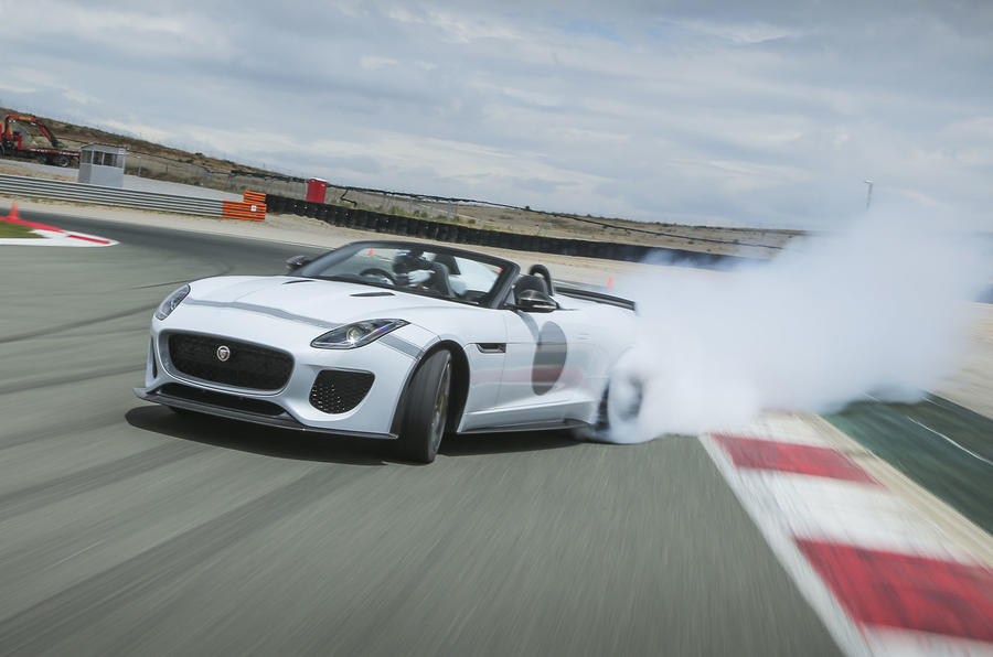 Jaguar F-Type Project 7 drifting