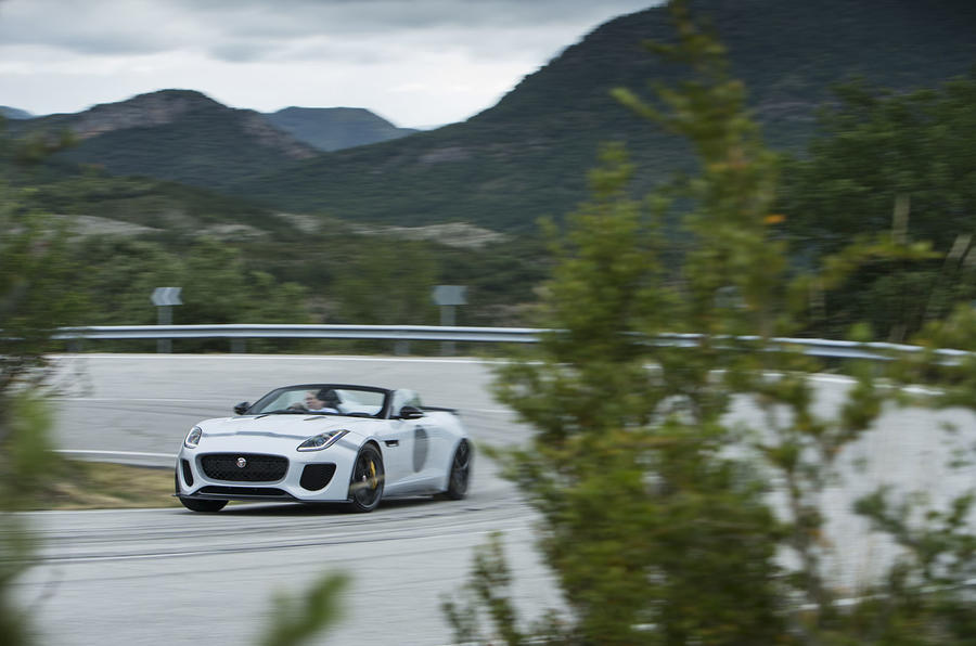 Jaguar F-Type Project 7 cornering