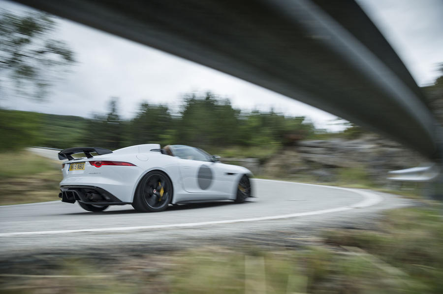 F-Type Project 7 rear cornering