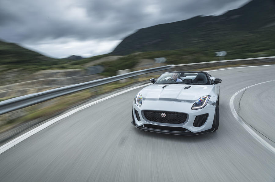 Jaguar F-Type Project 7 cornering