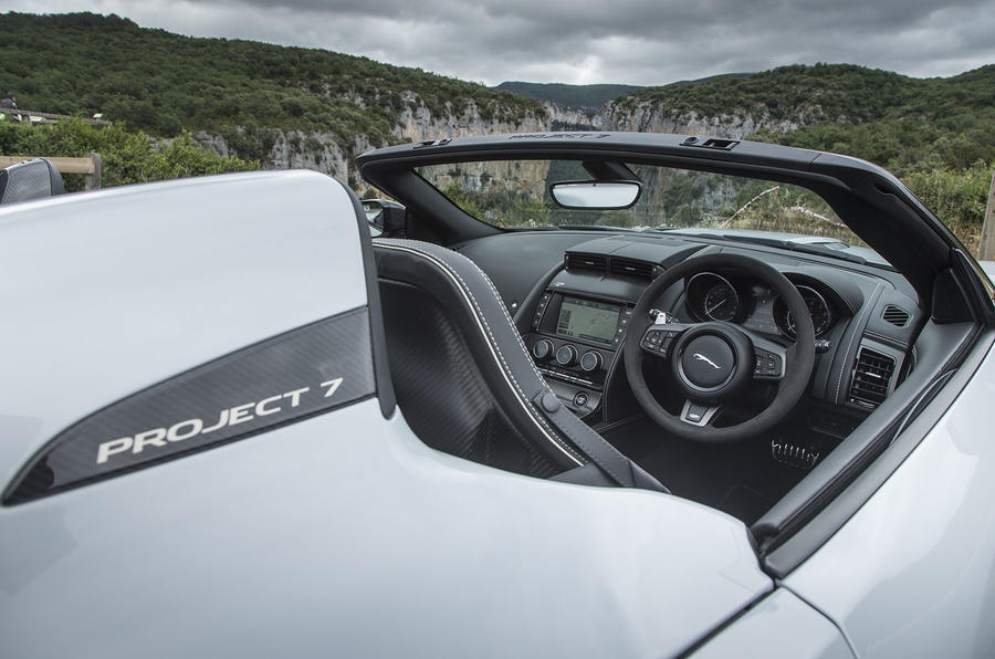 Jaguar F-Type Project 7 interior