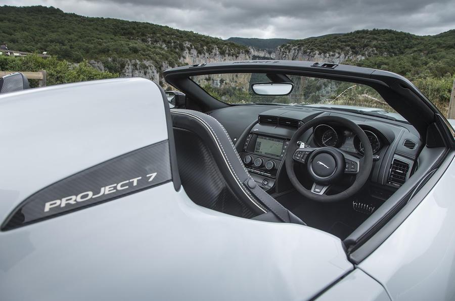 Jaguar F-Type Project 7 interior