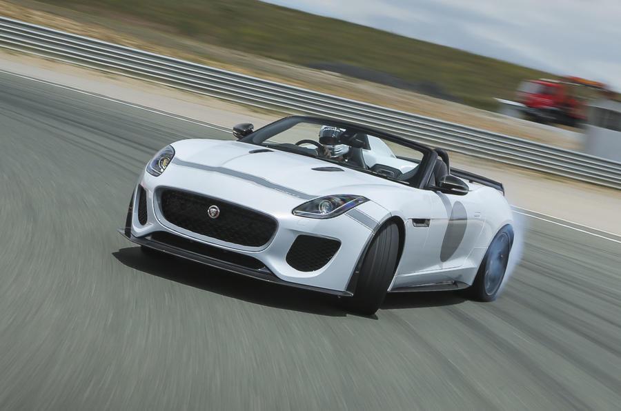 Jaguar F-Type Project 7 drifting