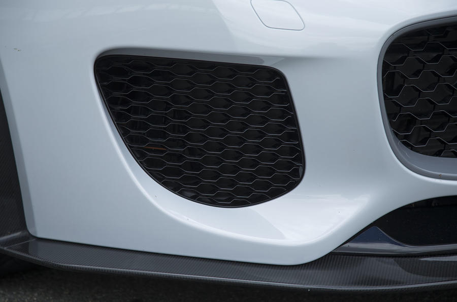 F-Type Project 7 air intake