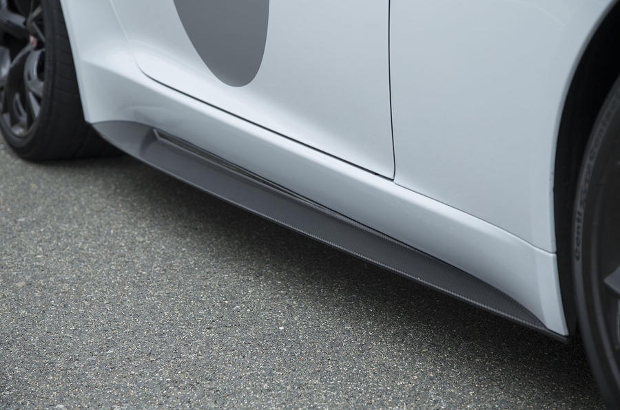F-Type Project 7 side skirts