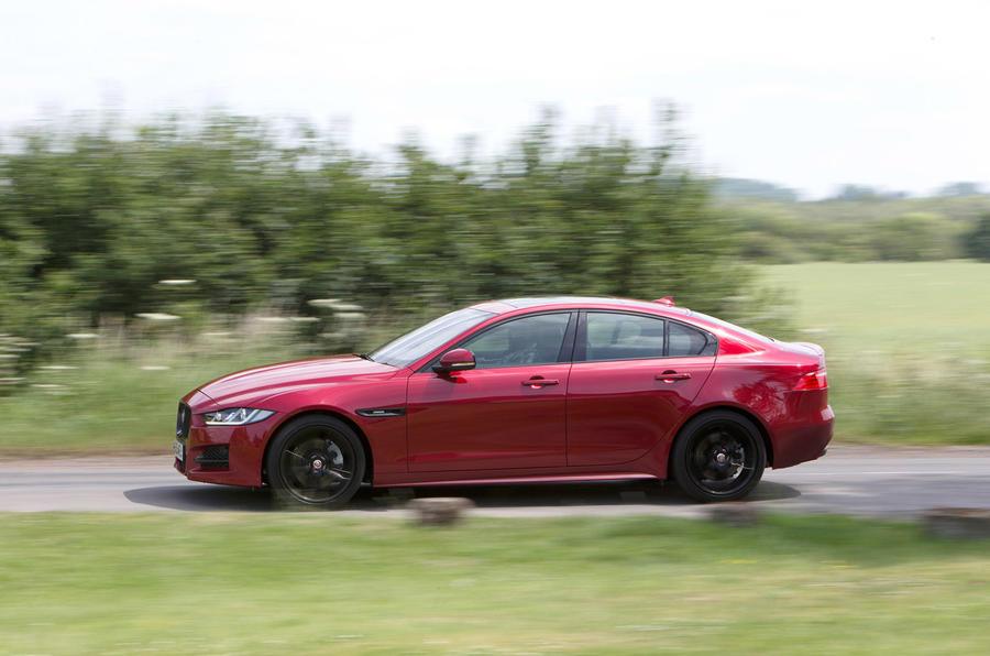 The Jaguar XE takes comfort and body control in its stride