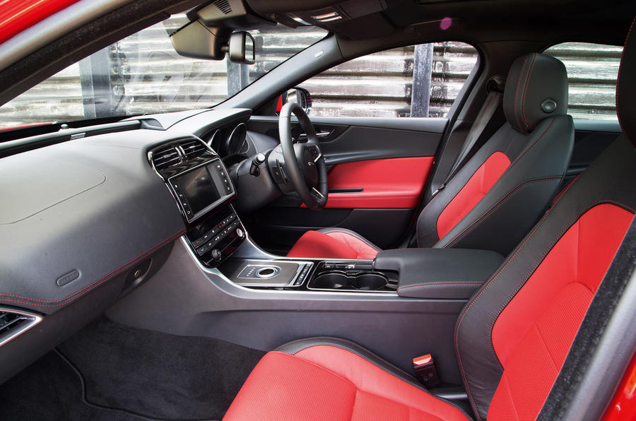The Jaguar XE's ten-way electrically adjustable seats are an option