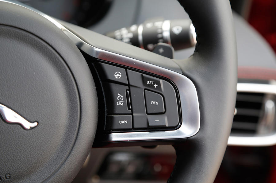 Cruise control is a standard option across the Jaguar XE range