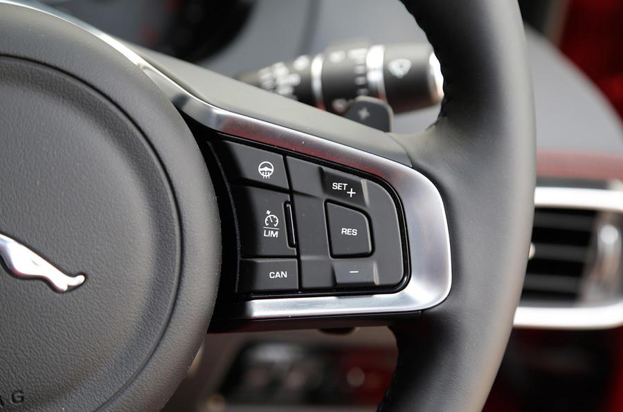 Jaguar XE cruise control switchgear