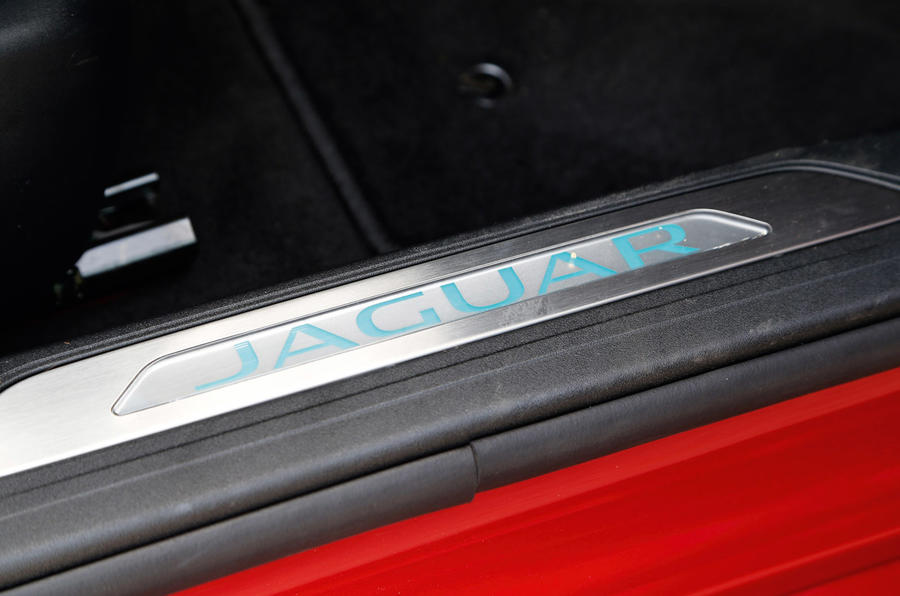 The Jaguar emblazed kickplates give a sense of prestige