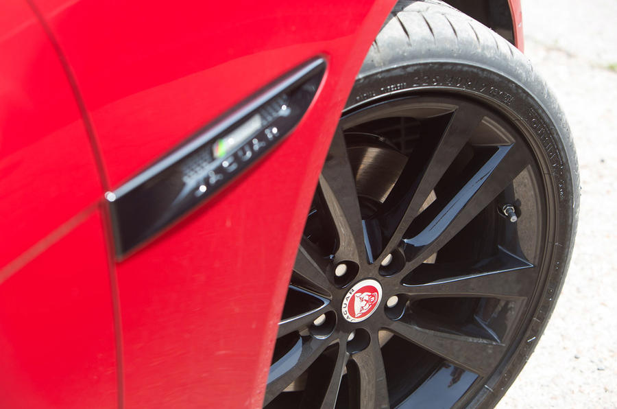 The Jaguar XE S comes with 19in alloy wheels