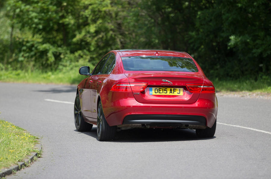 Jaguar XE rear cornering