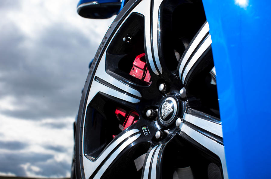Jaguar XFR-S red brake calipers
