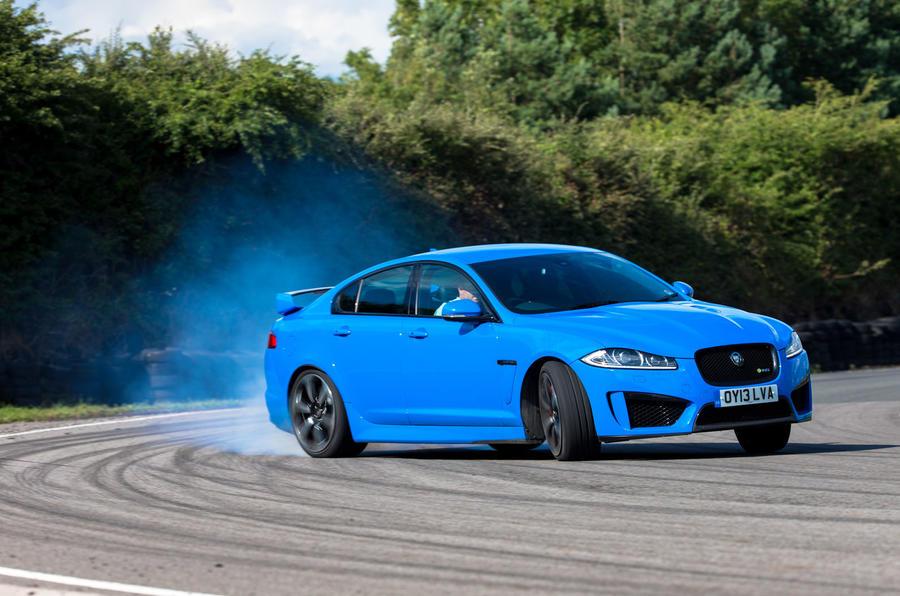 Jaguar XFR-S drifting