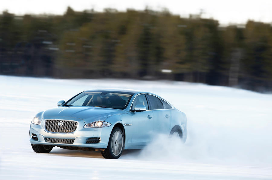 Jaguar XJ AWD proving