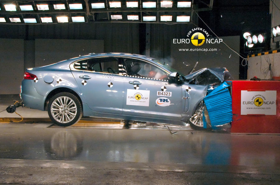Jaguar defends XF safety