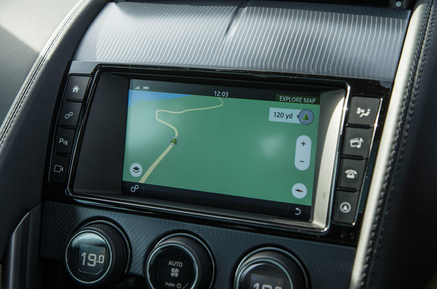 Jaguar F-Type 2.0 infotainment system