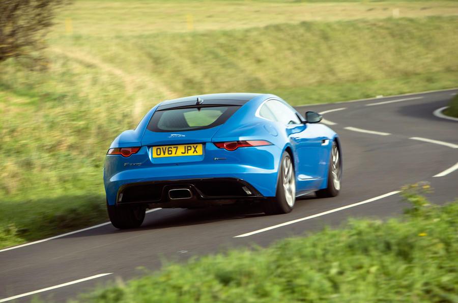 Jaguar F-Type 2.0 rear cornering