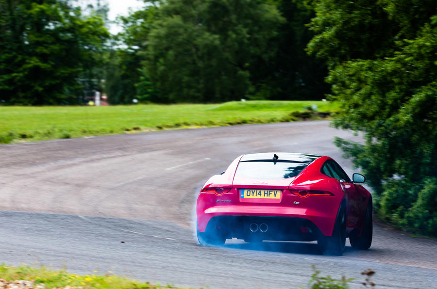Jaguar F-Type hard rear cornering
