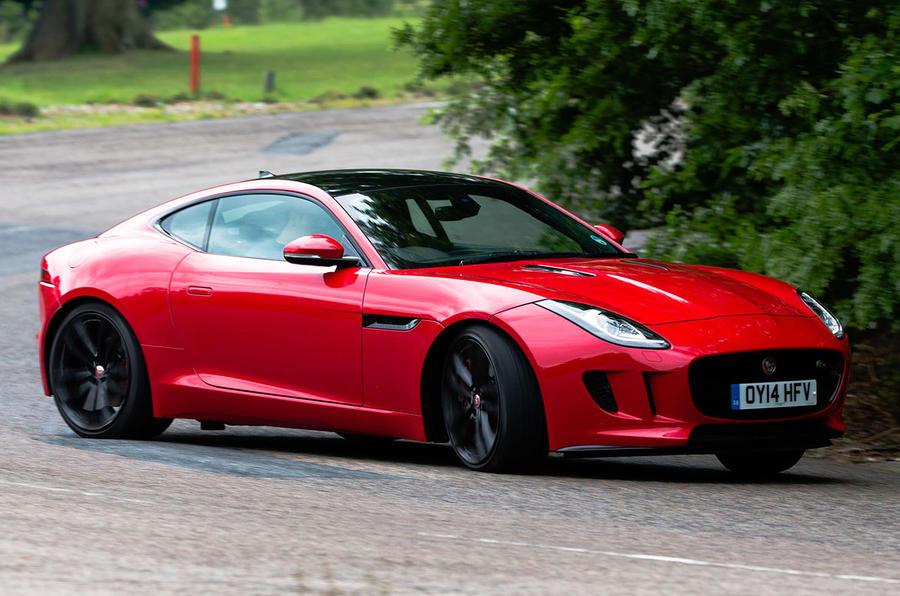 Jaguar F-Type hard cornering