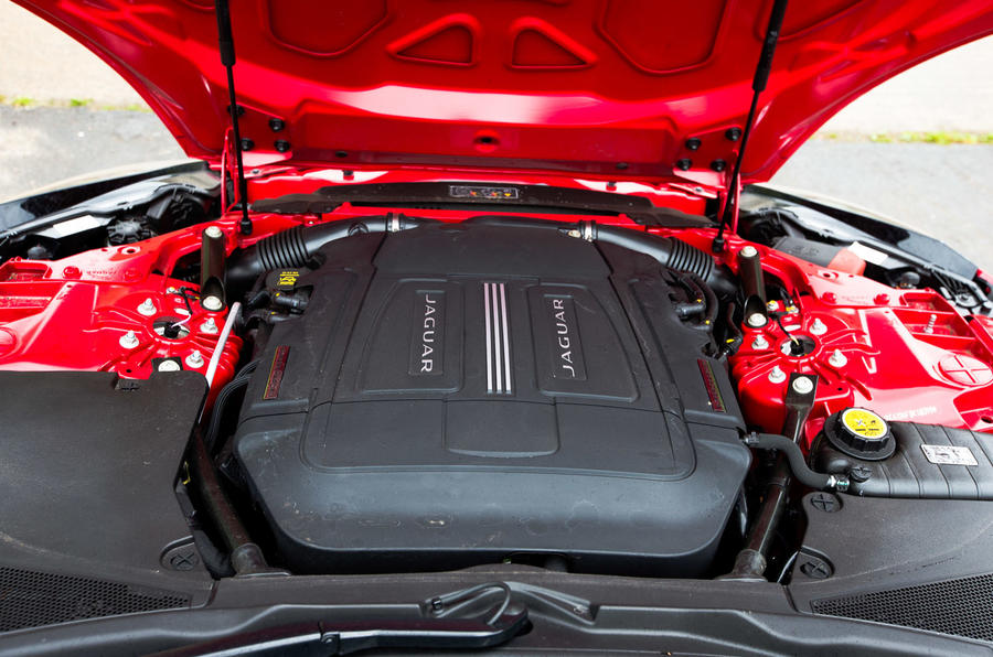 Jaguar F-Type engine bay