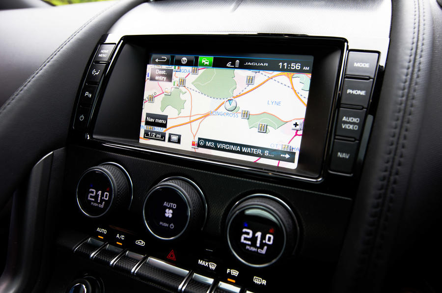 Jaguar F-Type Coupé infotainment system