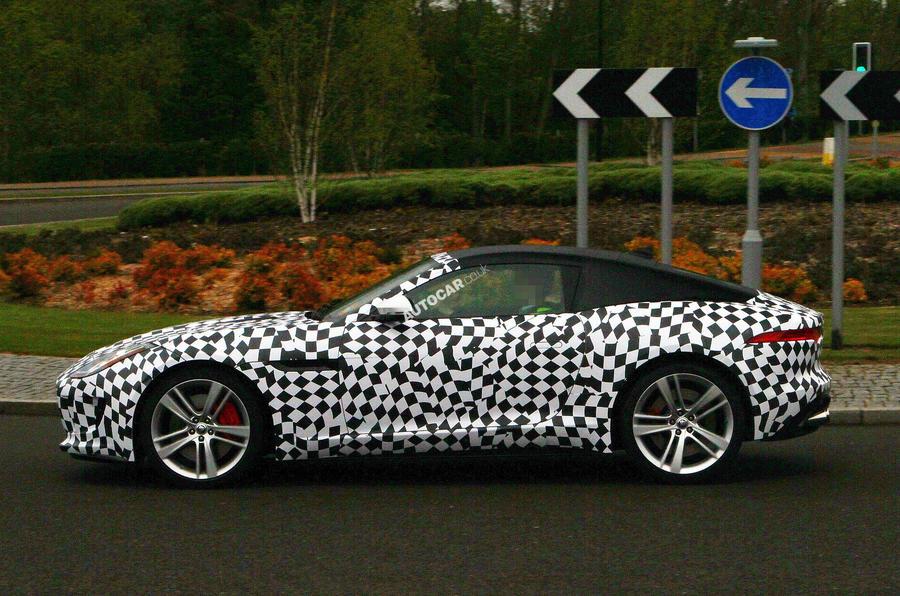 Jaguar F-type coupé begins testing