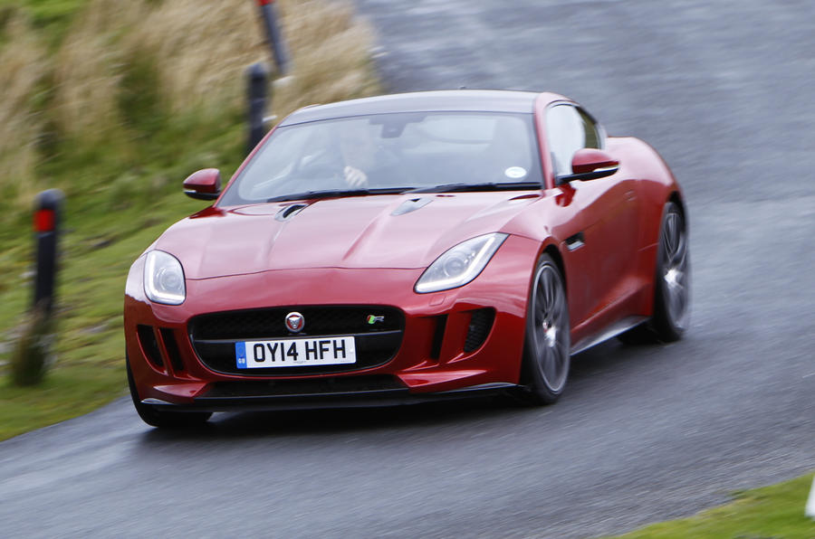 Jaguar F-Type R cornering