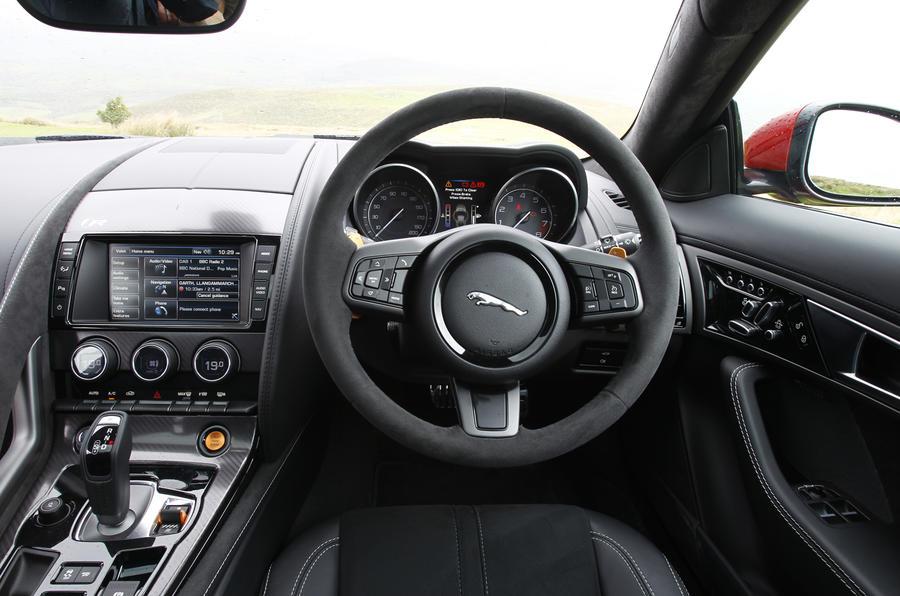 Jaguar F-Type R dashboard