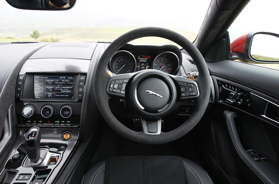... Jaguar F Type R Dashboard ...