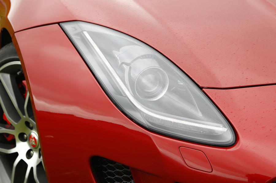 Jaguar F-Type R headlight