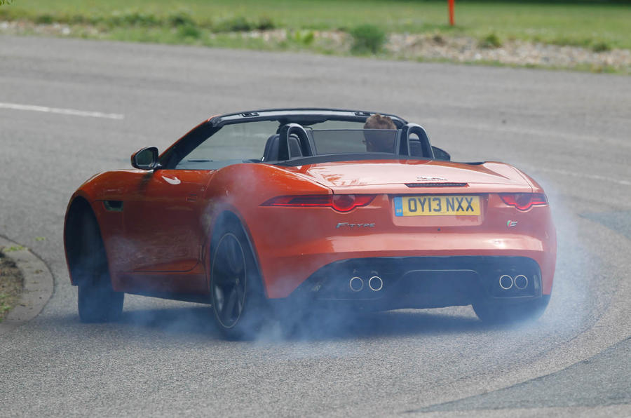 Jaguar F-Type Convertible rear cornering