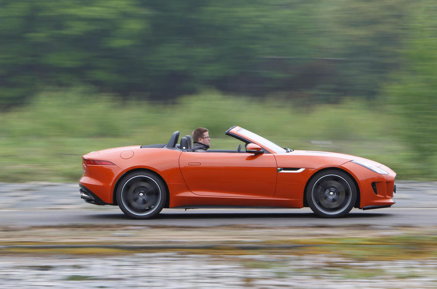 Jaguar F-Type Convertible roof down