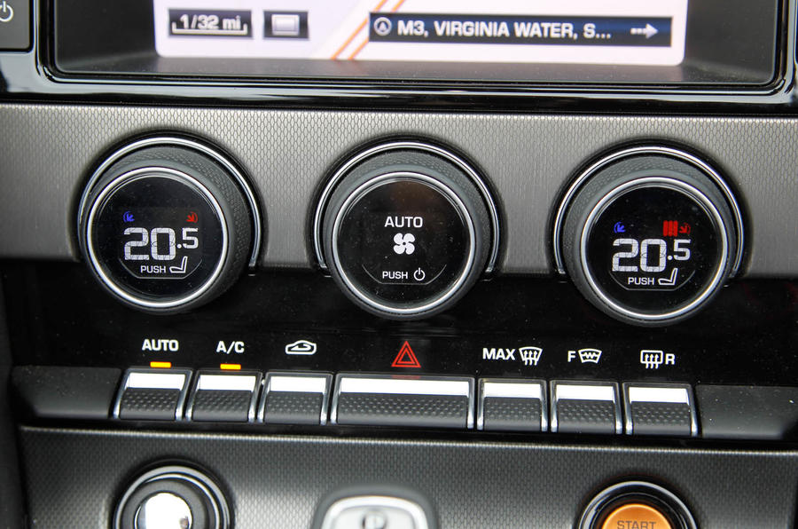 Jaguar F-Type climate control switchgear