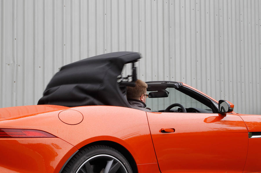 Jaguar F-Type folding fabric roof