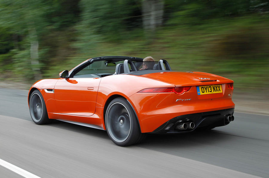 jaguar f type convertible review autocar. Black Bedroom Furniture Sets. Home Design Ideas