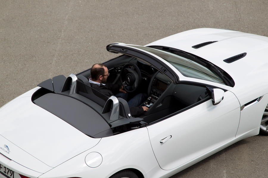Jaguar F-type V6 S roof down